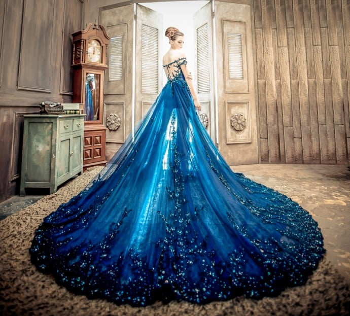 robe de mariee bleue no 9 wedding