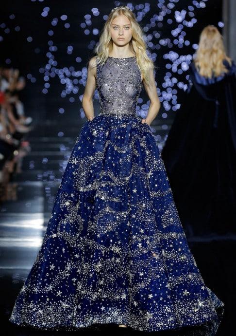 robe de mariee de zuhair murad en bleu