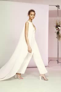 ASOS Mariage 2016 - Bridal Jumpsuit with Cape Overlay £150 Live 14.03