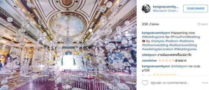 ballons salle de reception splendide instagram