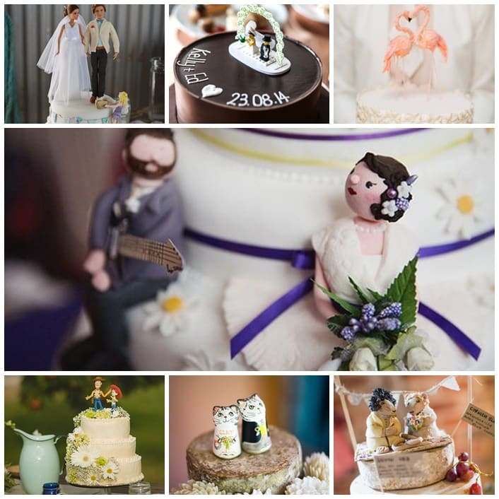 cake toppers pour le mariage