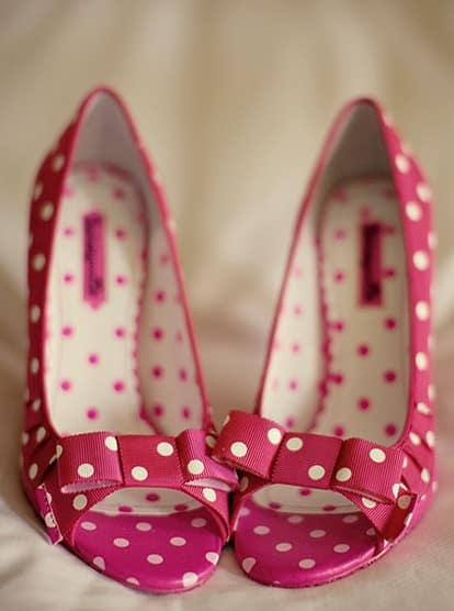 chaussures mariee polka dots