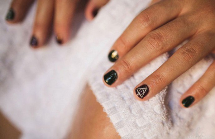 mariage harry potter nail art