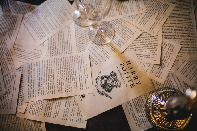 mariage harry potter table feuilles
