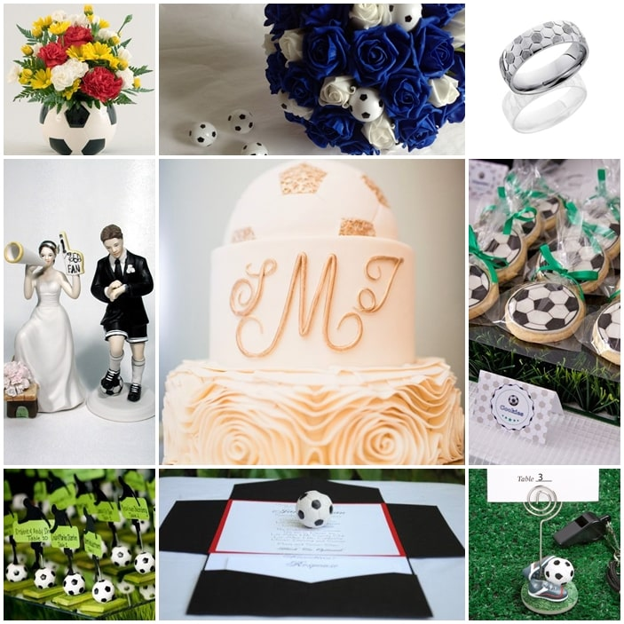 planche mariage football