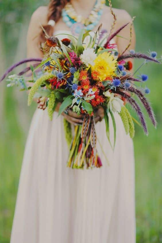bouquets boheme multicolore