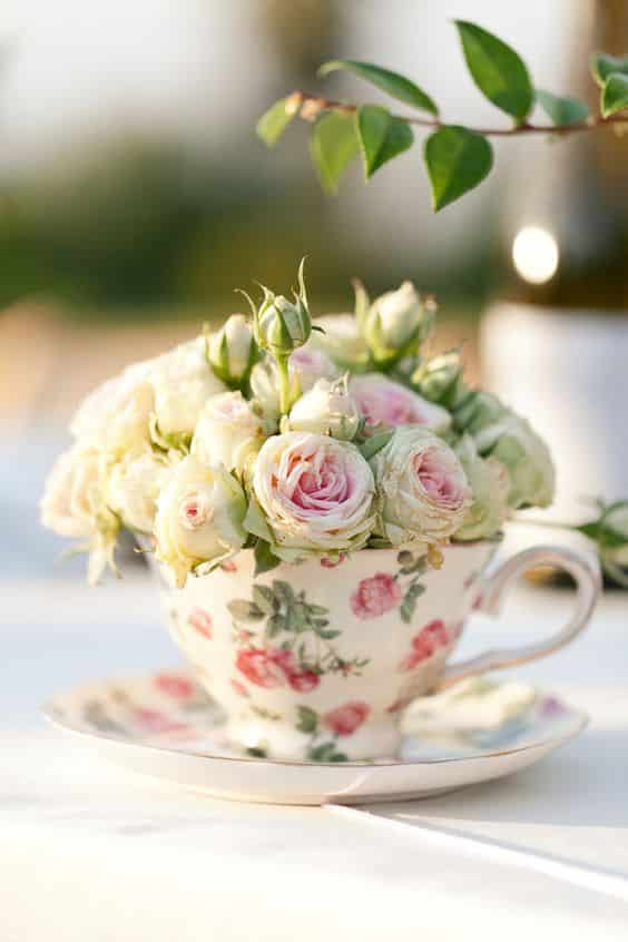 deco florale tasse british liberty mariage