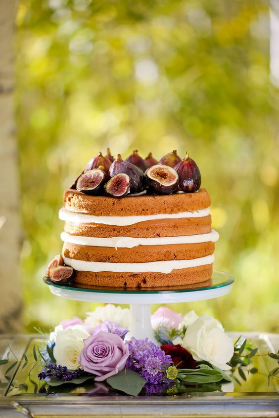 naked cake aux figues mariage couleurs automne
