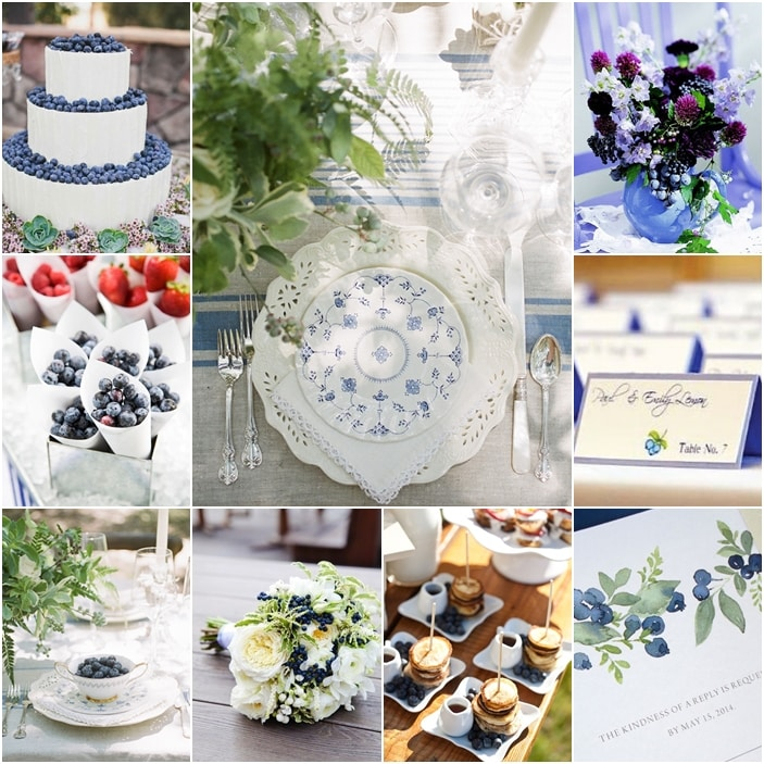 tableau mariage blueberry