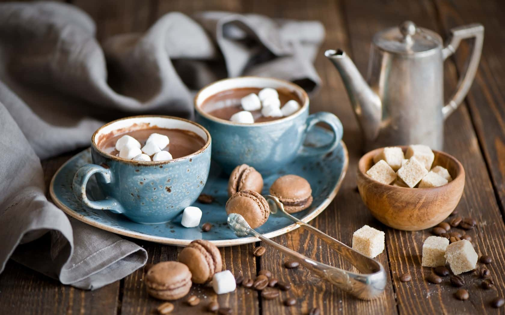 chocolat chaud marshmallows