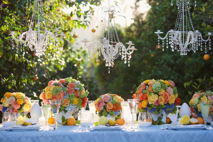 decoration de mariage coloree ambiance agrumes