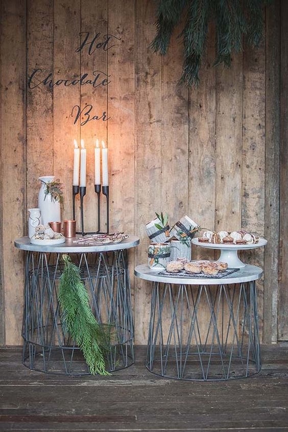 sweet table mariage scandinave
