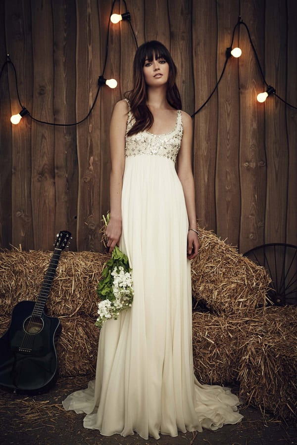 Robe de mariee coupe droite Jenny Packham collection spring 2017