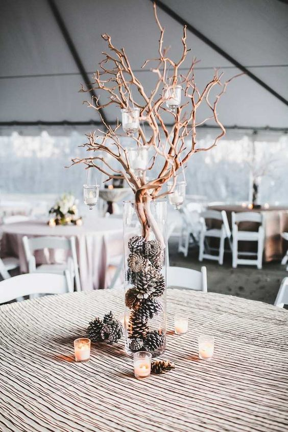 mariage hiver eclaire bougies 4