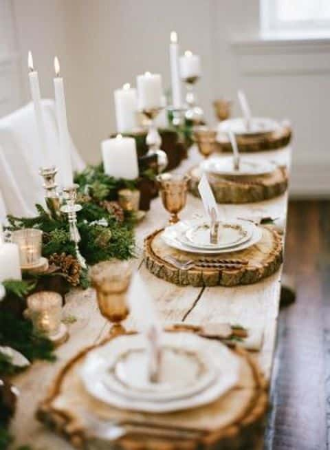 mariage hiver eclaire bougies 5