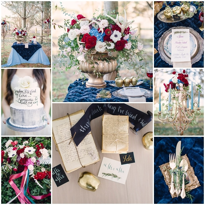 planche mariage inspiration blanche neige