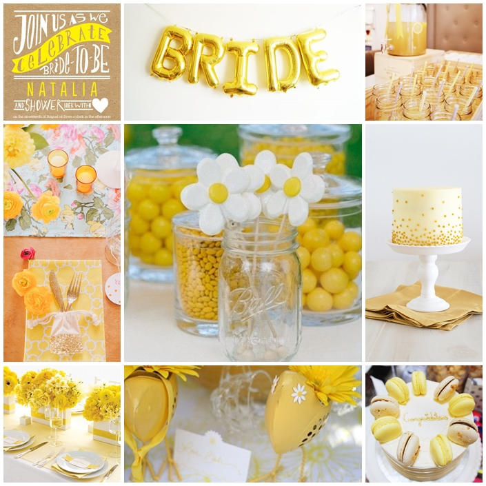 Planche bridal shower jaune