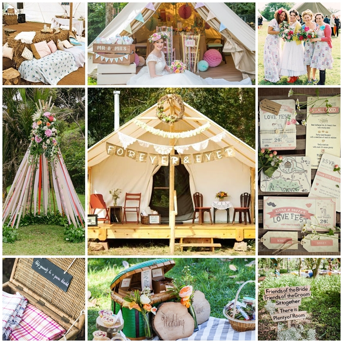 Planche mariage en mode glamping
