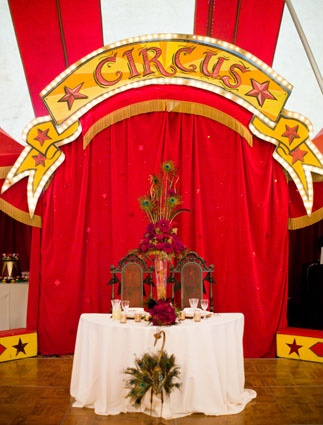 cirque reception table maries