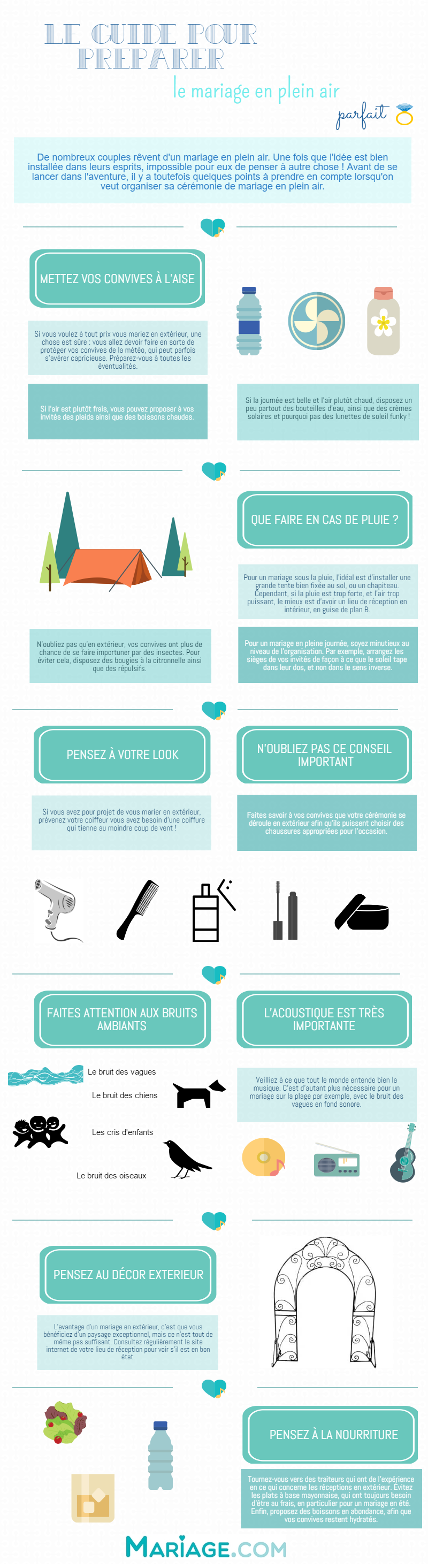 guide mariage exterieur infographie