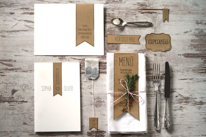 papeterie scandinave mariage