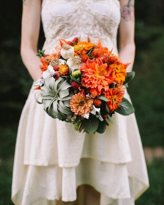 bouquet orange ail legume