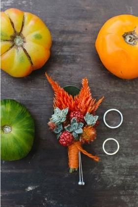 boutonnioere marie orange legumes