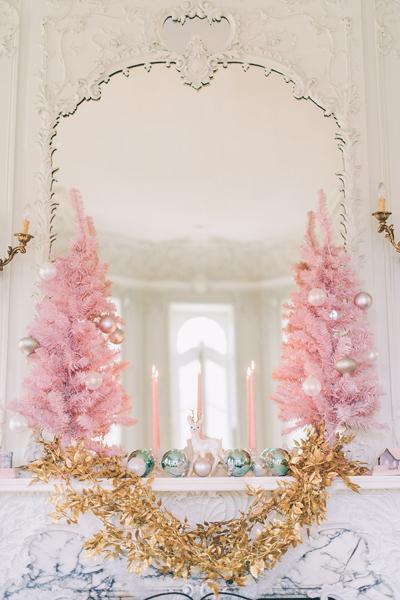 14 jolies mani res de jeter du rose poudr dans votre d coration de mariage. Black Bedroom Furniture Sets. Home Design Ideas
