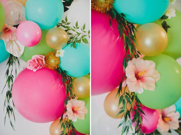 fleurs et ballons tres gros plans DIY arche floral