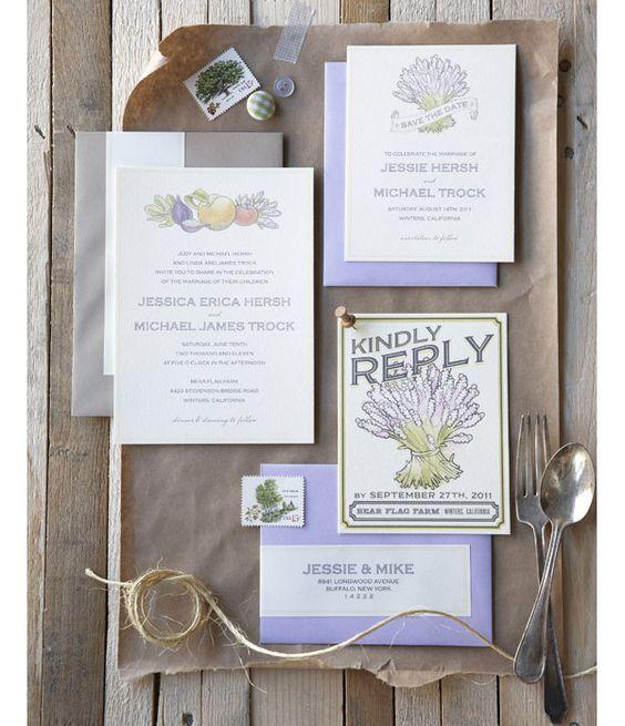 invitations legumes faire part