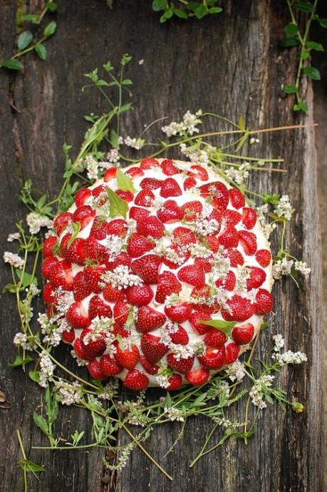 mariage fraise gateau