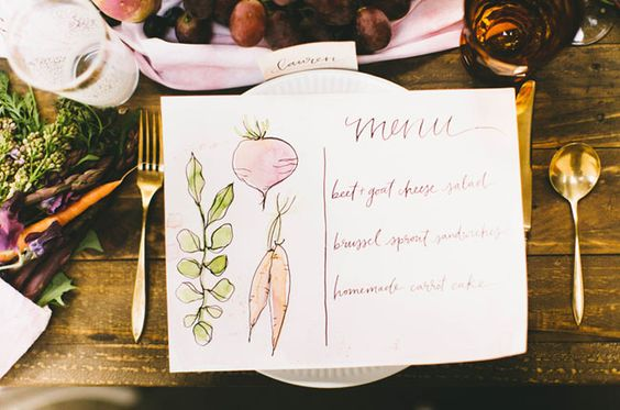 menu mariage legume