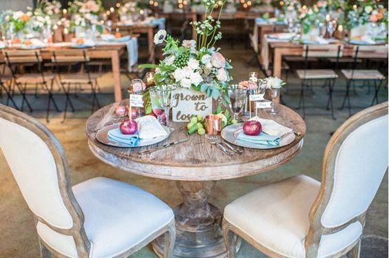 reception table oignons