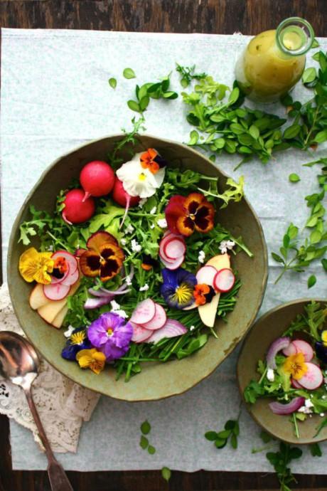 repas fleurs legumes