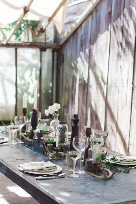 table serre botanic bois