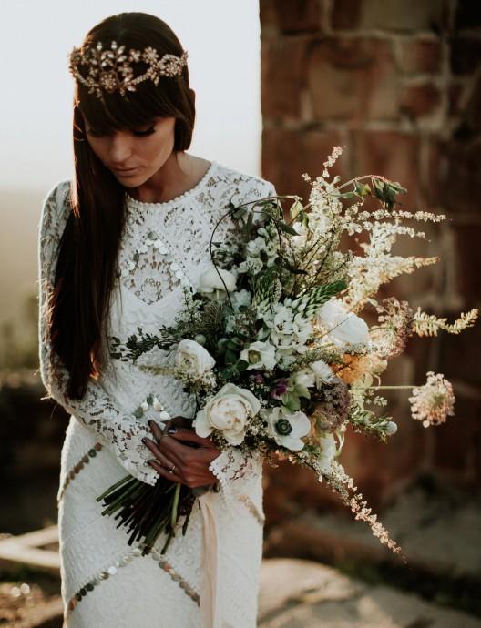 bouquet blanc sauvage