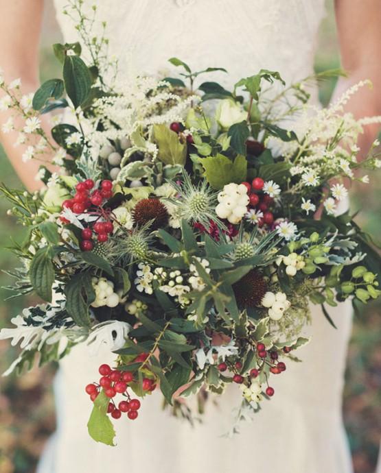bouquet rouge et blanc fruits rouges