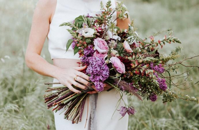 bouquet violet sauvage