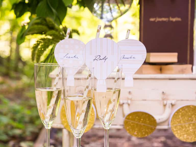 champagne mariage montgolfire