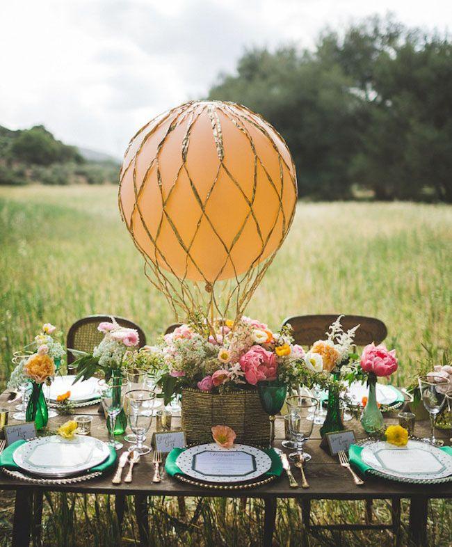 decoration exterieur table mariage
