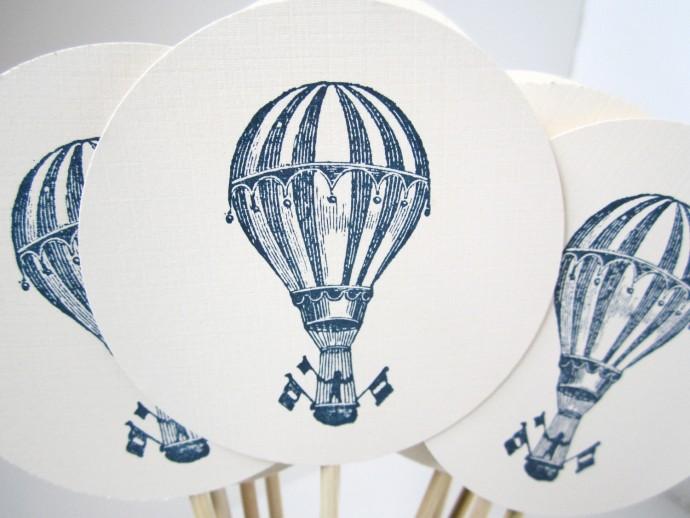 decoration gateaux mariage montgolfiere