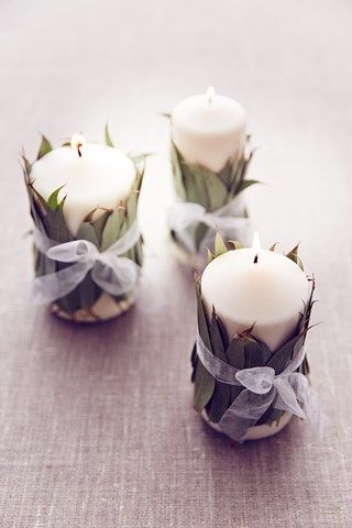 eucalyptus decoration bougies