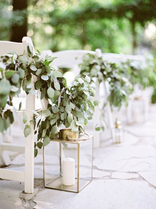 eucalyptus decoration chaises