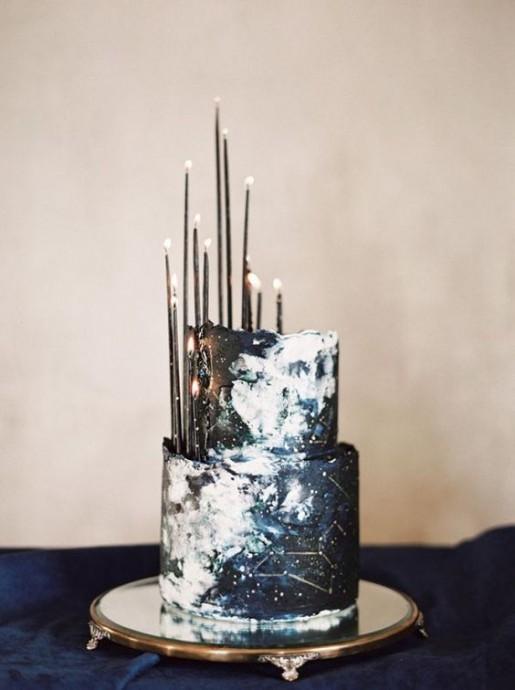 gatau de mariage constellation avec bougies