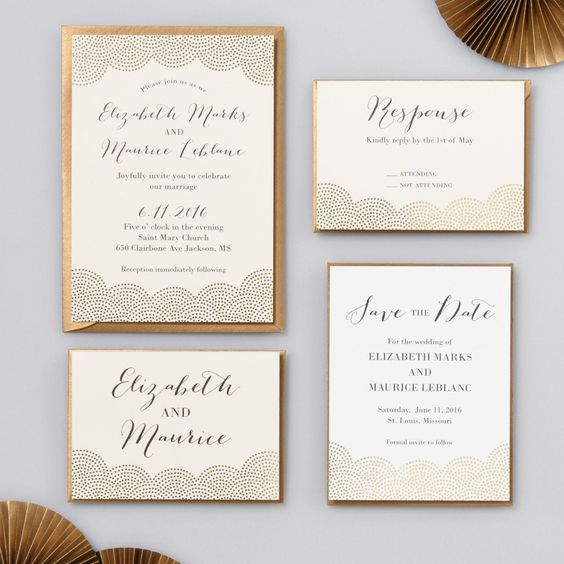 invitation or mariage dore