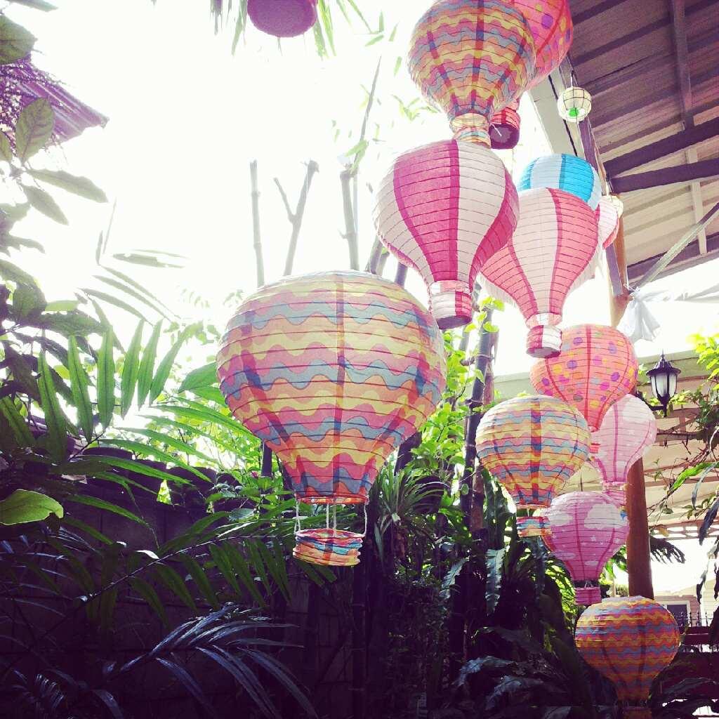 lanternes mariage montgolfiere