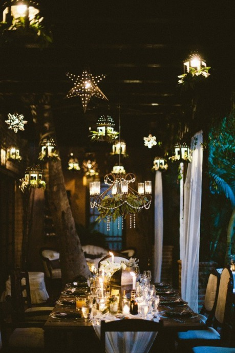mariage constellation etoiles table de reception