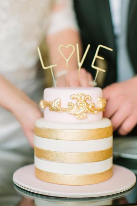 mariage dore gateau de mariage dore
