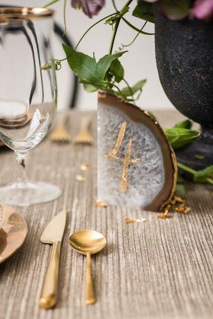 mariage dore plan de table numero dore