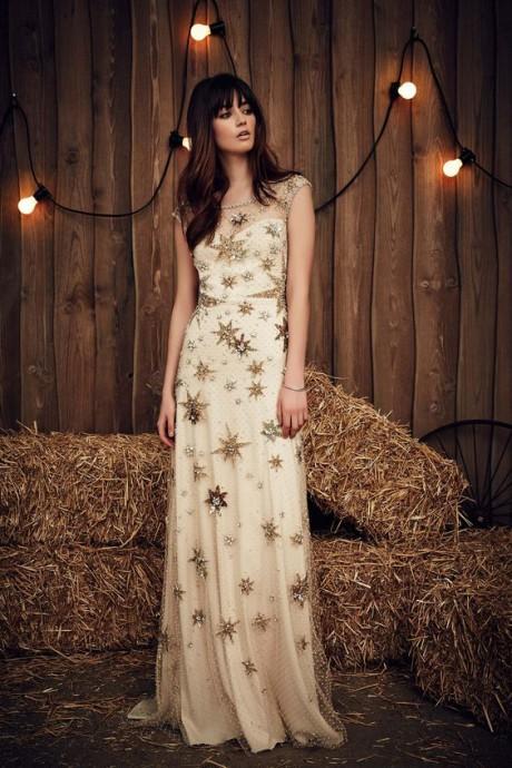 mariage dore robe de marie etoile dores